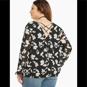 Torrid Floral Double layered Chiffon blouse